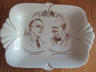 Royal Winton Grimwades, Made In England - F. D. Roosevelt And W. Churchill