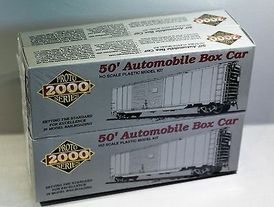 Lot Of 4 Bachmann Ho 50' Automobile Box Car Grand Trunk Western With End Doors