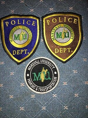 MARSHALL UNIVERSITY POLICE PATCH LOT Of TWO Plus PARKING & TRANSPORTATION