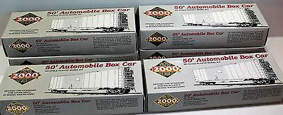 Lot Of 6 Bachmann Ho 50' Automobile Box Car Canadian National Cn With End Doors