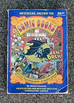 Official Guide To COMIC BOOKS AND BIG LITTLE BOOKS by Michael Resnick 1977