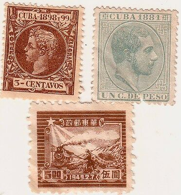 Vintage 1881 Stamps Latin American X 3 --1881, 1898 & 1949 Very Old