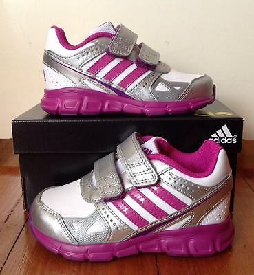 Bn Girls Genuine Adidas Hyperfast Trainers / Sneakers Size 5.5 Us Kids Childrens