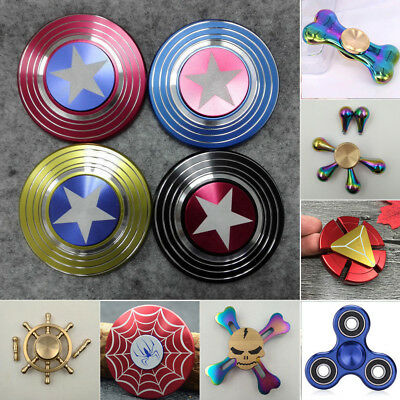 Hand Spinner Fidget Spinner Focus Toy ADHD Autism EDC Captain America Shield