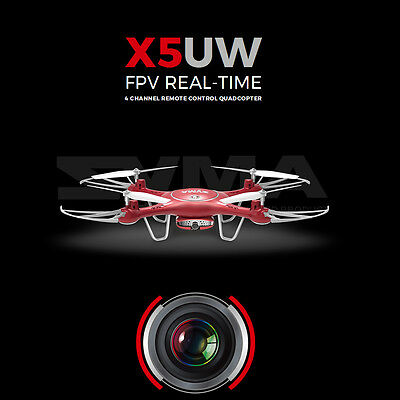 2017 Hotsale Syma X5UW 4Ch 720P WIFI FPV Real-Time HD Camera RC Quadcopter Red