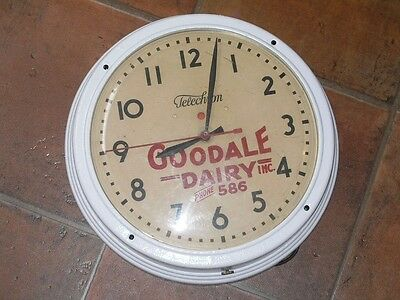 Vintage Goodale Dairy Inc. Courtland Ny Round Advertising Clock