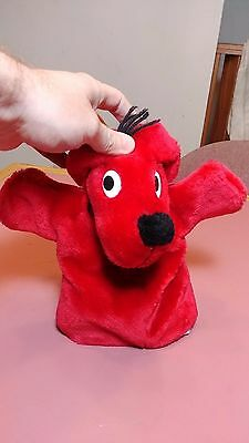 CLIFFORD THE BIG RED DOG Plush Hand Puppet 1995 Norman Bridwell