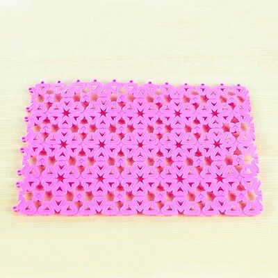 2Non Slip Hydro Rug Aqua Carpet Mat Shower Bath Water Area Bathroom Safe Pink