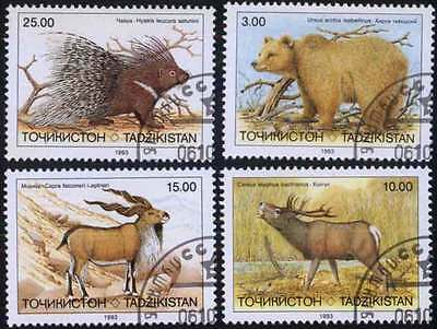 TAJIKISTAN (01/1) 1993 Animals Used 4 diff. Stamps ! Gift Your Children !