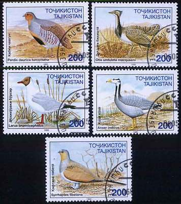 TAJIKISTAN (03/1) 1995 Birds Used 5 diff. Stamps ! Gift Your Children !