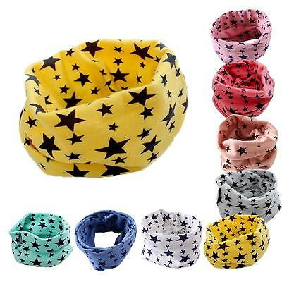 Autumn Winter Scarf Baby Boys Girls Collar Scarf Cotton Ring Neck Scarves