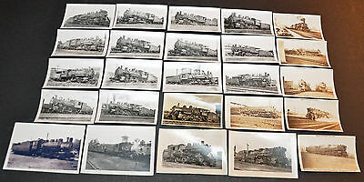 Lot of 25 B&W Vintage Photos B&M, B&A, BHC, BURLINGTON