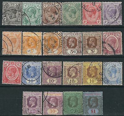 M080) Malaya - Straits Settlements. 1921/33. Used. Small Collection GV. c£24+