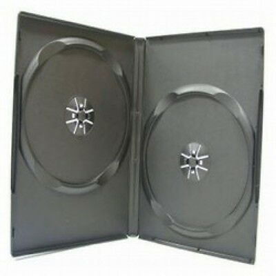 100 STANDARD Black Double DVD Cases