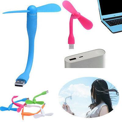Portable Flexible USB Mini Cooling Fan Cooler For Laptop Computer Summer Fan Hot