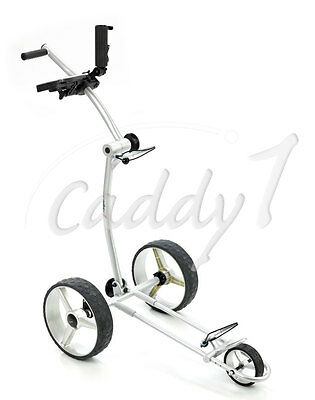 Design Golf Trolley CADDYONE 100 Silber, nur knapp 6kg