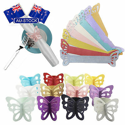 New 10PCS Paper Butterfly Napkin Rings Birthday Wedding Party Decorate AU STOCK