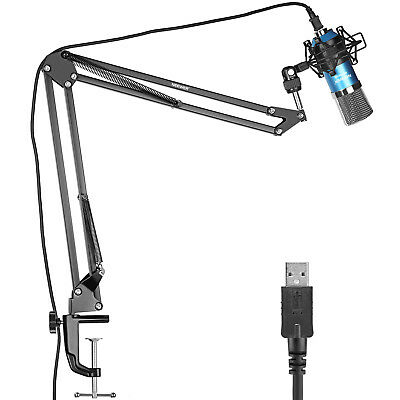 Neewer NW-7000 USB Pro Studio Condenser Microphone (Blue) and NW-35 Arm Stand