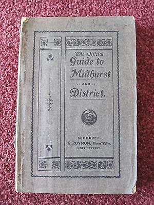 Antique. The Official Guide to Midhurst and District  1911