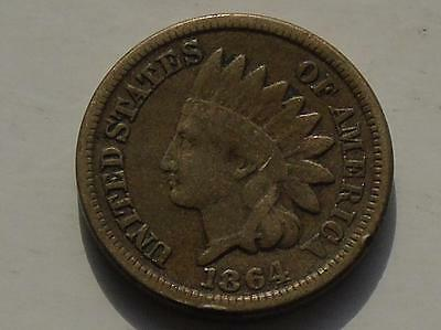 US Indian Head Cent 1864, Original White Cent of the Civil War Period
