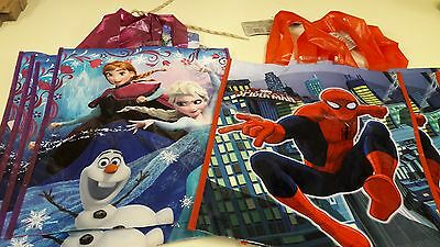 4 Frozen and 4 Spiderman Large Party Tote Bags