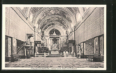 alte AK Valetta, Interior of St. John´s Co-Cathedral