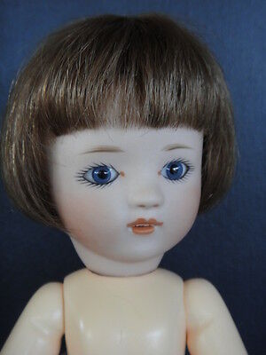 LOULOTTE® porcelain Doll. Blue eyes BLEUETTE story -Made in France by G.BRAVOT
