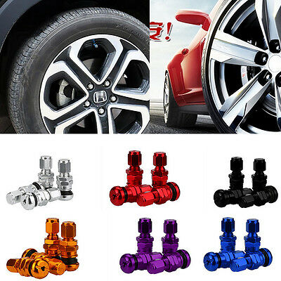 4pcs / Set Bolt-in Aluminum Car Tubeless Wheel Tire Valve Stems With Dust Caps
