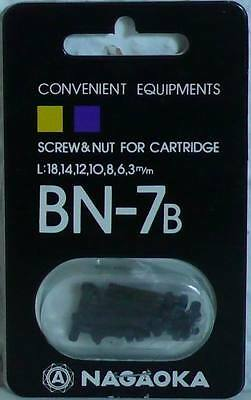 Nagaoka - Bn-7B - Cartridge Srew/nut-Set - Black - Antimagnetic