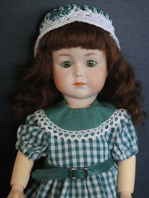 "LOULOTTE®'s friend porcelain Doll ""LENA"" .Green eyes BLEUETTE story -G.BRAVOT"
