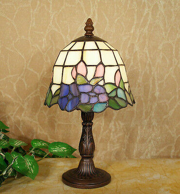 *LIMITED* TIFFANY STAINED GLASS FLORAL LEADLIGHT LOUNGE TABLE LAMP Home