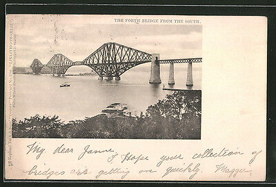 tolle AK Edinburgh, The Forth Bridge from the South