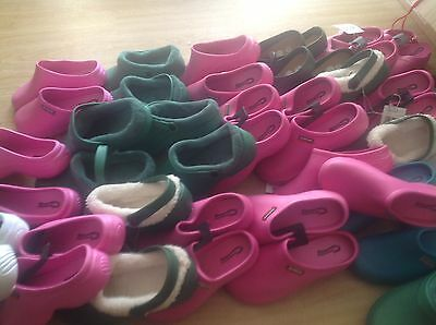 GARDENING CLOGS  job Lot 30 Pairs Rubber Gardening  Clogs New Town & Country