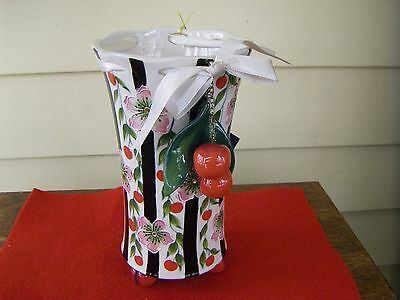 Blue Sky Icing on The Cake by Jeanette McCall Cherry Vase RARE New with Tag