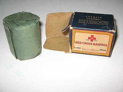 Vintage Red Cross Bandage Wrap 2-inch By 10 Yards
