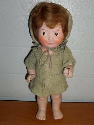"""Unmarked~ Vintage Antique 1920's Composition Googly Eyed Girl Doll 13"""""""