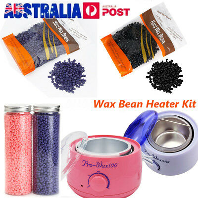 No Strip Depilatory Hard Wax Bean Body Bikini Remover Heater Waxing Machine Kit