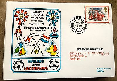 Football First Day Cover  England V Luxembourg