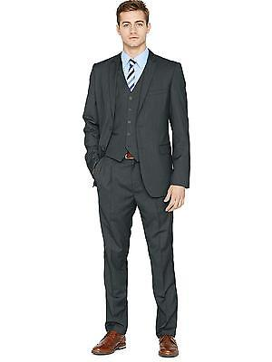 Goodsouls Regular Fit Single Breasted Suit Jacket In Grey Size 40 Regular