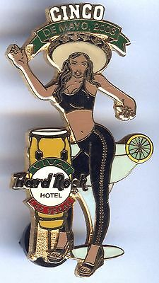 BIG Pin´s EGF NEUF Tirage limité PIN UP - HARD ROCK HOTEL - CINCO DE MAYO 2003