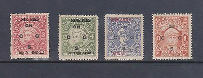 India Cochin Anchal Service overprinted issues mint & unused.