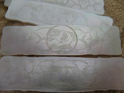 4 chinese mother of pearl gaming counters,tokens.chips.kissing doves
