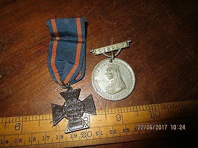 1893 Queen Victoria School attendance medal ( named ) and JMC DSO church medal