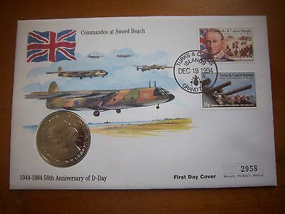 1994 Mercury D- Day Anniversary Coin First Day Cover