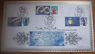 2007 Benham Christmas Signed Reverend Timothy Dudley-Smith Obe First Day Cover