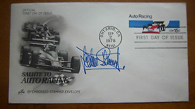 Rare - 1978 Sir Jackie Stewart Signed Salute To Auto Racing Cover