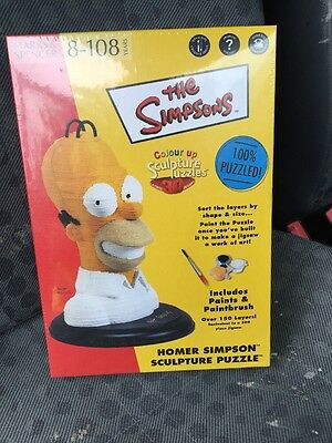 M&S The Simpsons Homer Simpson 3D Sculpture Puzzle New And Sealed