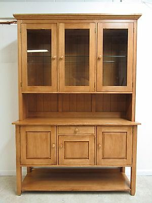 Ethan Allen Country Colors China Cabinet Hutch Curio Display Breakfront