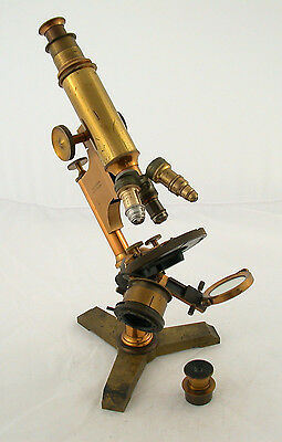 BAUSCH & LOMB Mikroskop microscope Messing brass antique beautiful ca. 1885