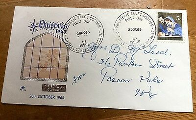 1965 Australia First Day Cover Christmas 1965